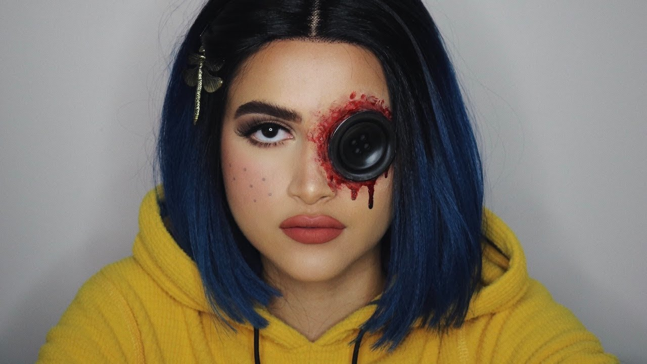 Coraline Jones Halloween Makeup Tutorial Arts And Crafts All Diy Projects