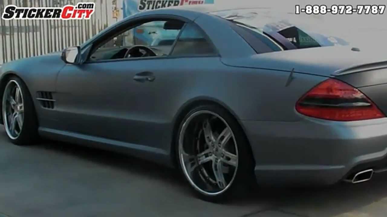 3m Matte Silver Mercedes Sl Vinyl Wrap Video By