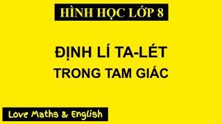 Скачать Toán 8 HH Định Lí Ta Lét Trong Tam Giác Love Maths English