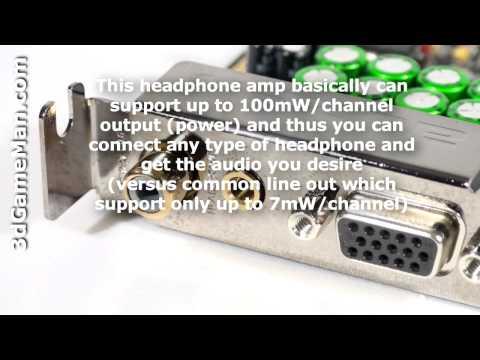 #1043 - Auzen X-Fi Forte 7.1 Low Profile Sound Card