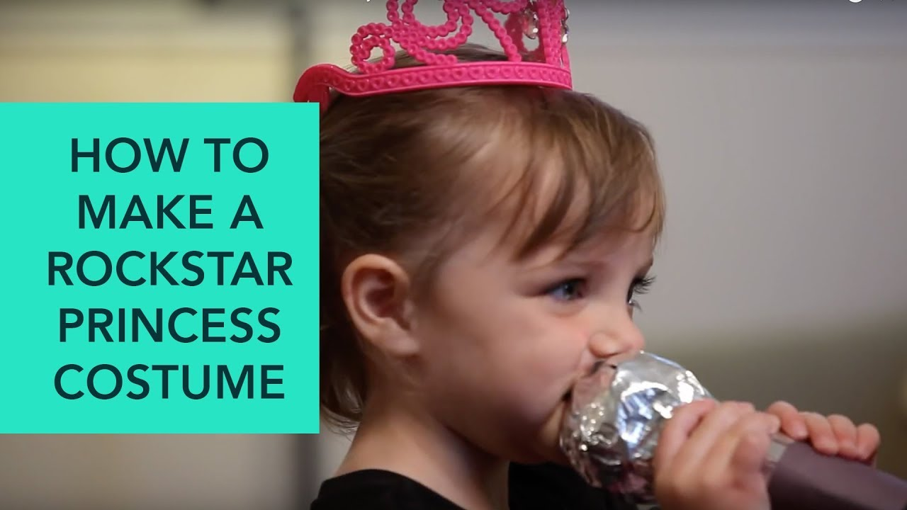 How to Make a Rockstar Princess Costume - Easy DIY Halloween | Care.com  sc 1 st  YouTube & How to Make a Rockstar Princess Costume - Easy DIY Halloween | Care ...