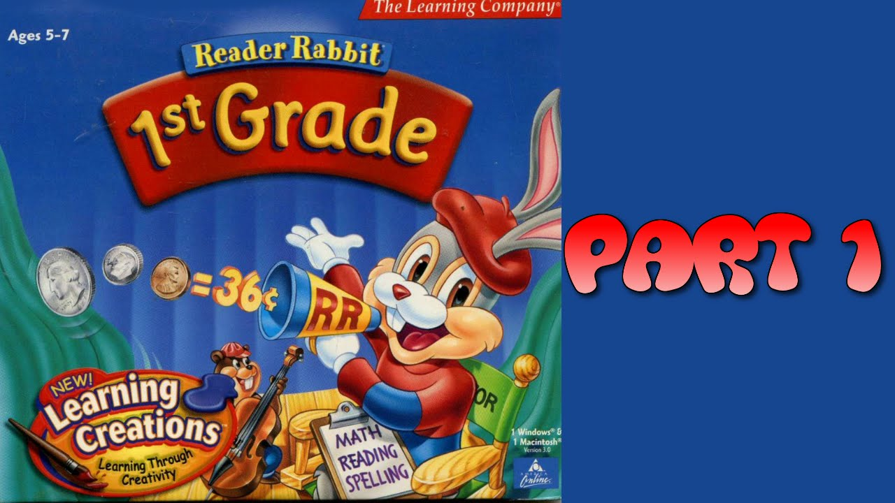 Worksheet 1st Grade Reader whoa i remember reader rabbit personalized 1st grade part 1 1