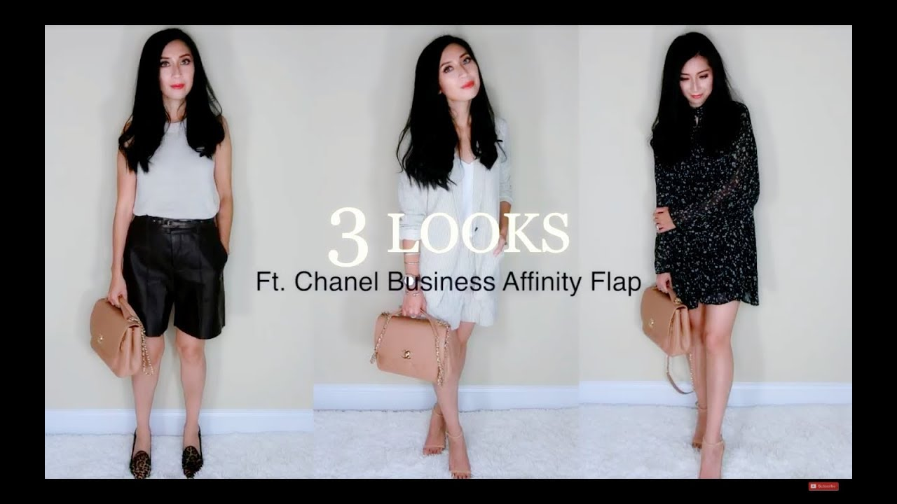 0fc47df5a16d Chanel Business Affinity Flap Bag Ft. 3 OOTD | Camel Color | Alexa Style  Book