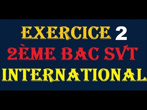 exercice 2ème bac Svt international la contraction musculaire