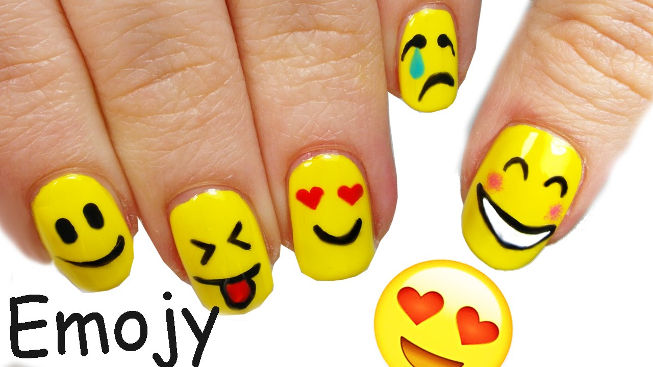 - Emoji NAIL ART Tutorial! - YouTube