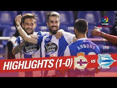 Resumen de RC Deportivo vs Deportivo Alavés (1-0)