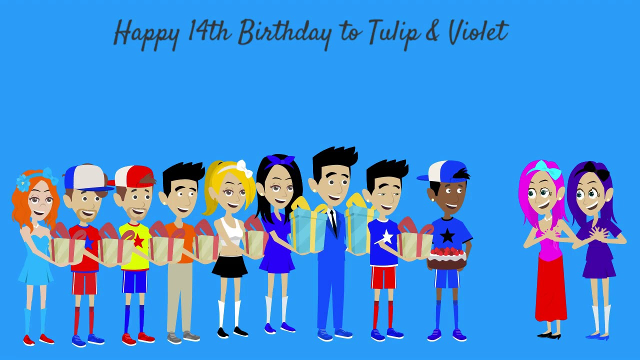Happy 14th Birthday to Tulip & Violet (MY OC Characters)