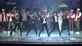 091230 KBS Song Festival - Rhythm Nation - SNSD 2009 Fashion Dance