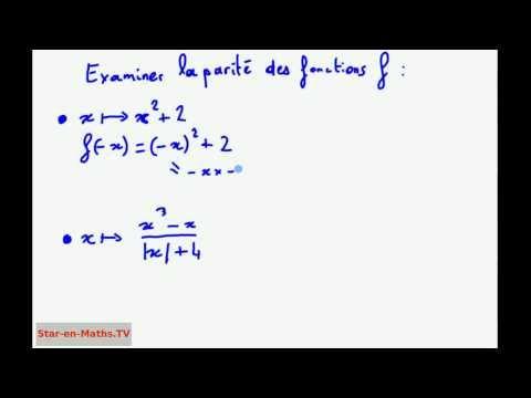 1ère S Fonction paire ou impaire ? Étude de la parité de deux fonctions