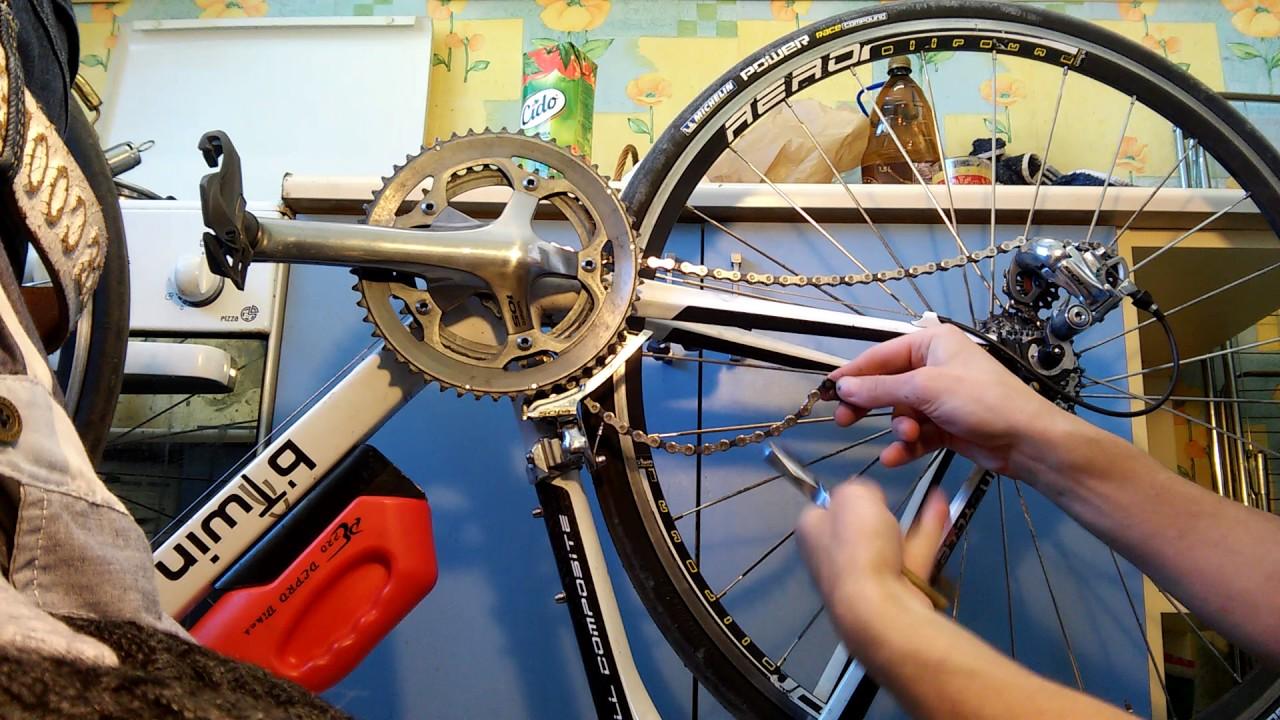 Снять замок цепи велосипеда забыл еще