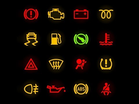 warning lights   cars dashboard