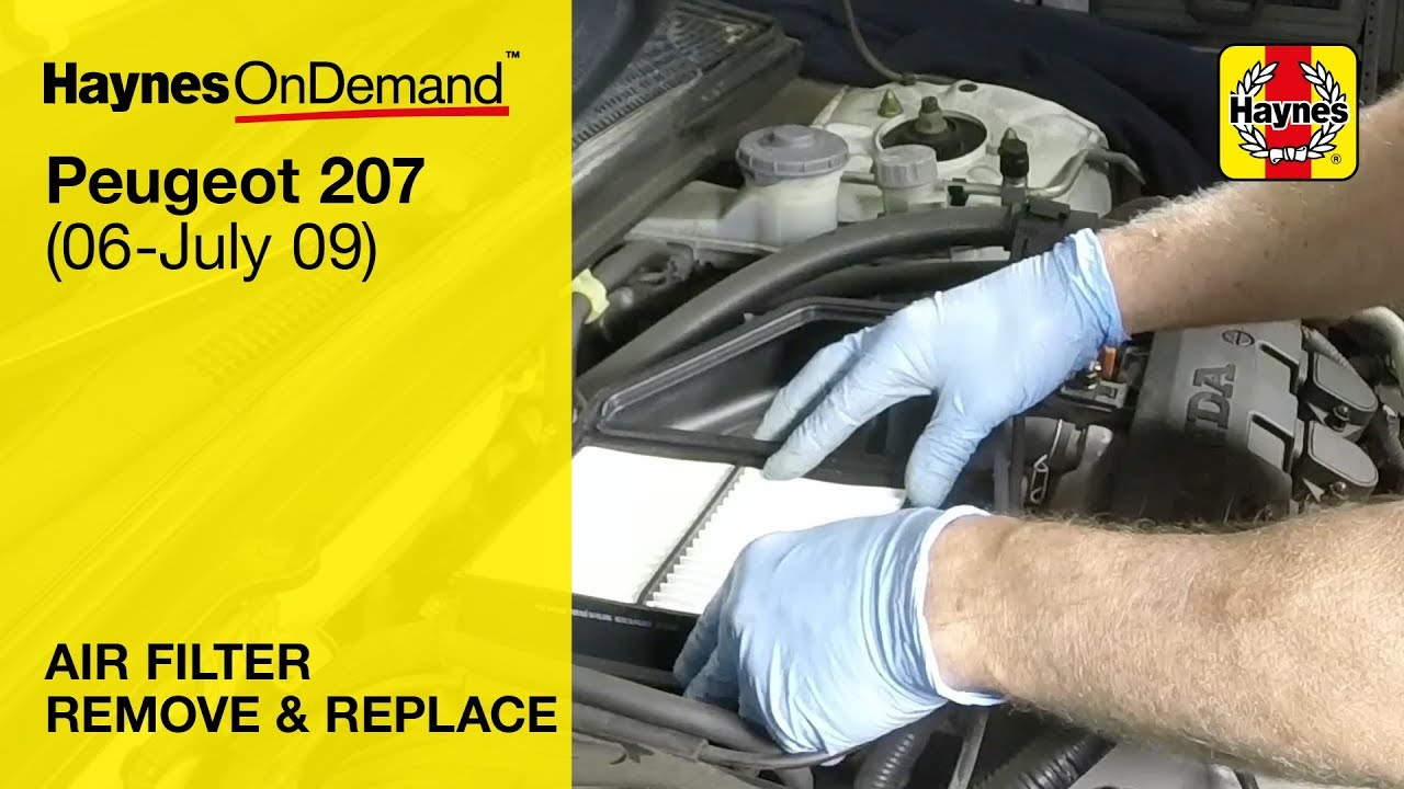 How To Change The Air Filter On A Peugeot 207 Petrol