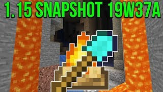 Minecraft 1.15 Snapshot 19w37a 1.16 Cave Update Code? More Version Parity