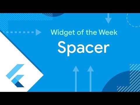 Spacer (Flutter Widget of the Week)