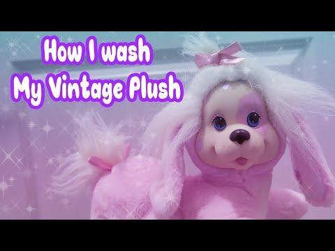 How I wash my Vintage Plush! 🐶✨
