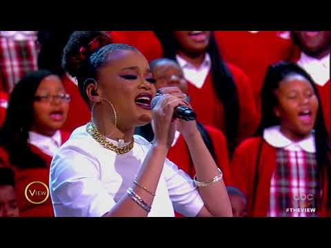Common, Andra Day Perform 'Stand Up For Something,' 'Rise Up' With Cardinal Shehan School Choir