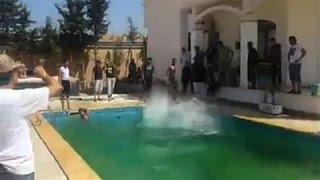 Raw Video: Militia Members at U.S. Embassy Grounds in Libya