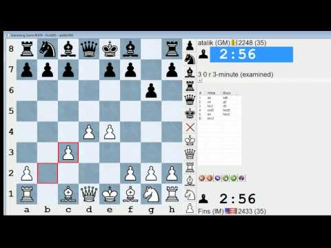 Blitz Chess #176: IM Bartholomew vs. GM Atalik (Grunfeld Defense)