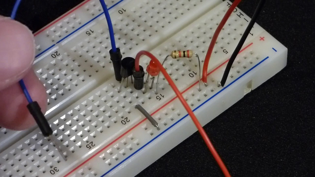 Demonstration Electronics Touch Sensor Switch Circuit Made With Npn Transistor 2n2222 Bjt