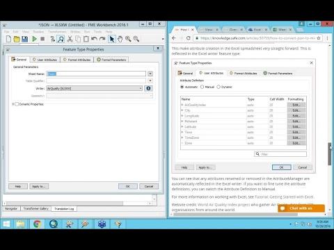 FME Desktop 2016 for Excel