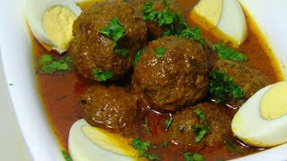 Kofta curry recipe - Beef kofta curry