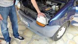 Comment démonter un bloc optique avant sur Renault Twingo 1