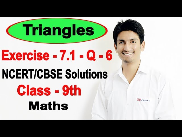 Chapter 7 Exercise 7.1 Question 6 - Triangles Class 9 Maths - NCERT Solutions