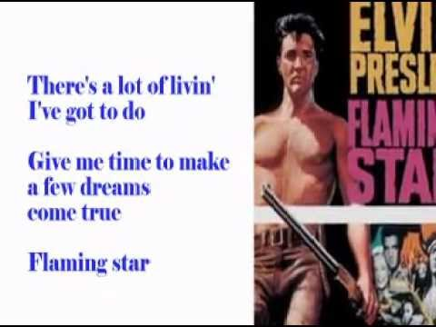 Flaming Star-Elvis Cover With Lyrics (Pattarasila59)