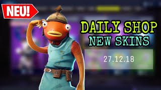 FORTNITE DAILY ITEM SHOP 27.12.18 | NEW FISH SKIN IS DA!!