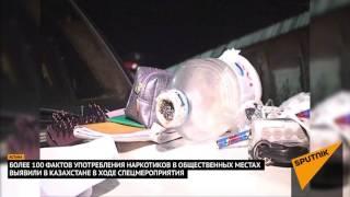 Полицейские с собаками искали наркотики в общественных местах
