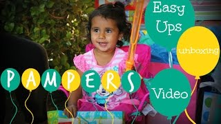 #PampersEasyUps Unboxing Video with Toddler Lily
