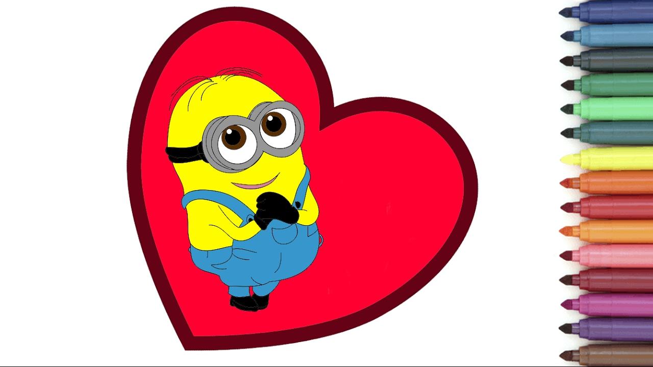 Saint Valentine's Day! CUTE Minion Banana Baby! [Coloring ...