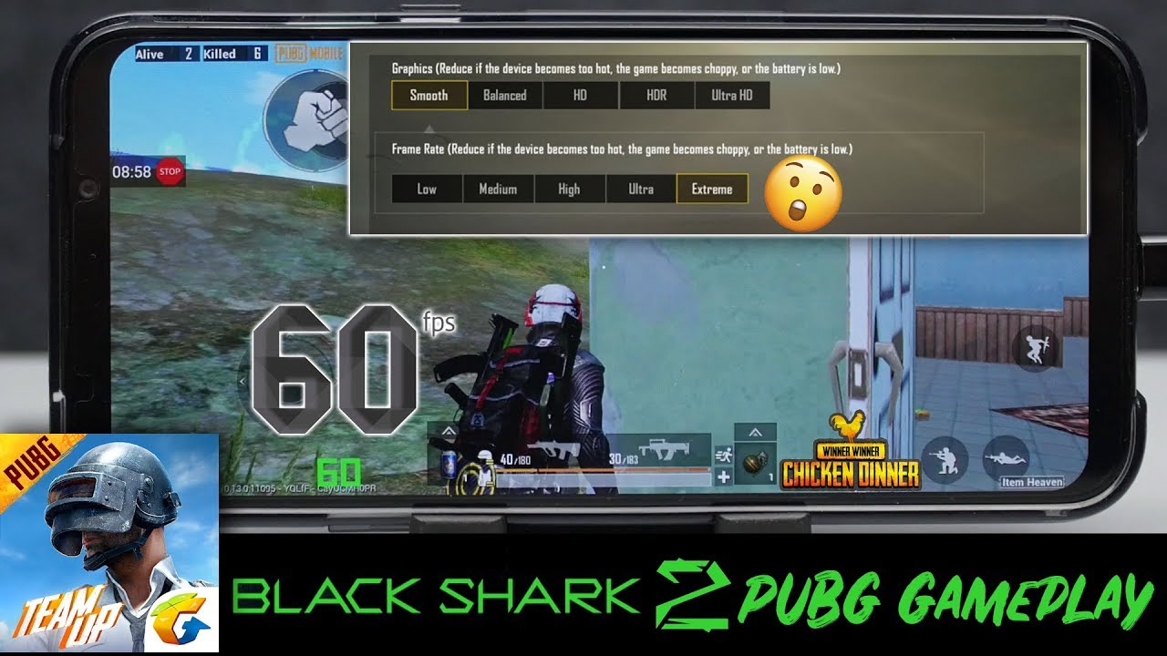Black Shark 2 - Pubg Mobile Smooth Extreme Setting with FPS Counter