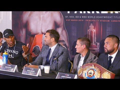 Anthony Joshua vs Joseph Parker PRESS CONFERENCE  Matchroom Boxing