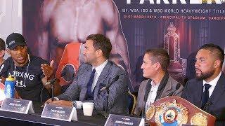 Anthony Joshua vs Joseph Parker PRESS CONFERENCE | Matchroom Boxing