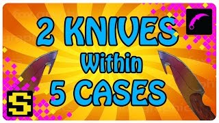 2 KNIVES WITHIN 5 CASES!!!!!!
