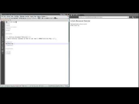 HTML 5 Address Address Tag