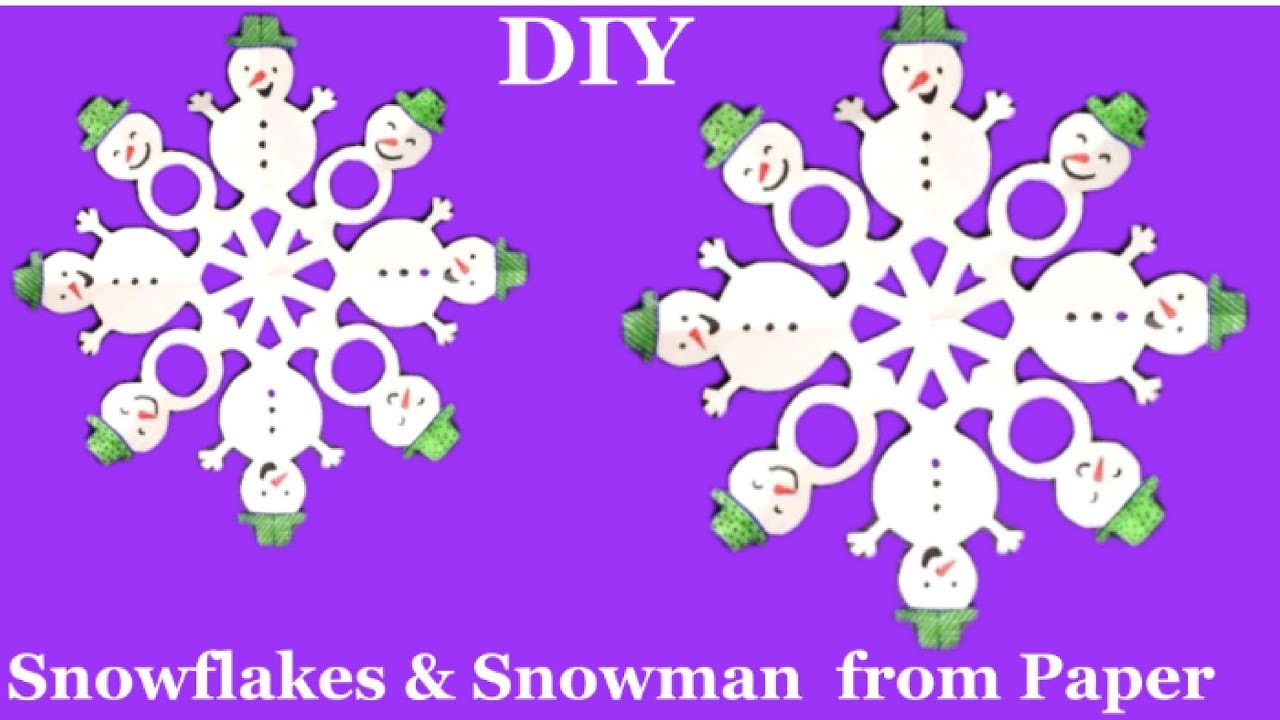 how to make snowman with paper