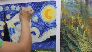 Is it Really Hand Painted? See How we Create a Hand Painted Van Gogh Starry Night!