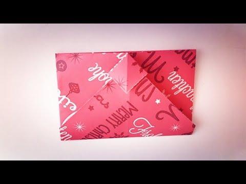 [Origami envelope] how to make folding origami easy paper envelope DIY for kids