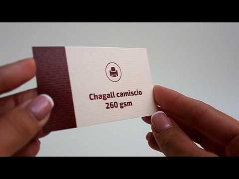 Business Card Cardboard Chagall camoscio 260 gsm