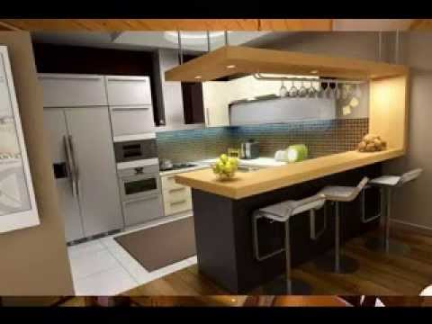 Kitchen bar design - YouTube