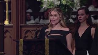 Barbara and Noelle read from the Bible at Bush's funeral