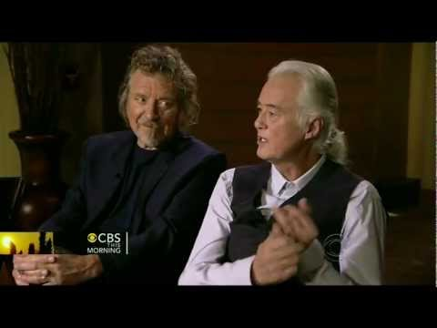 LED ZEPPELIN interview ( Charlie Rose CBS This Mourning 12/21/12 ) music