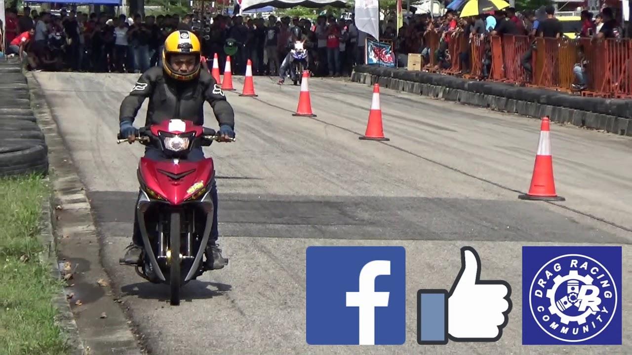 PART3/4 DRAG Bike Y15ZR RS150R Std Body Drag Racing Kubang Menerong May 2018