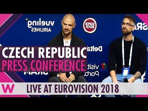 "Czech Republic Press Conference — Mikolas Josef ""Lie to Me"" Eurovision 2018 | wiwibloggs"