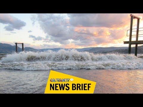 Kelowna during 2017 flood vs now