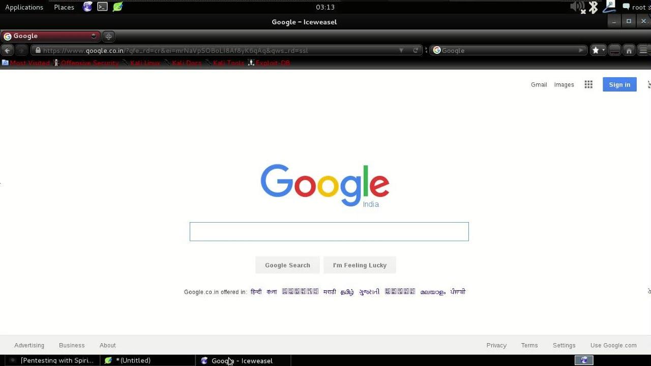 Web Penetration Testing Video-6 Google hacking database