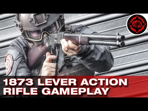 Airsoft Winchester Lever Action Rifle Gameplay (KTW M1873)