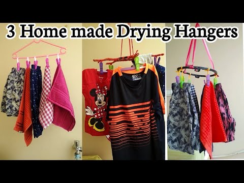 3#Handmade Clothes Drying Hangers making ideas#best out of waste craft ideas for home#Easy DIY